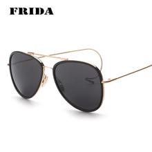 Frida 2016 Hook nueva moda templo pierna diseño estilo piloto Gafas De Sol mujer hombre Brand Design Gafas De Sol Gafas De Sol Gafas