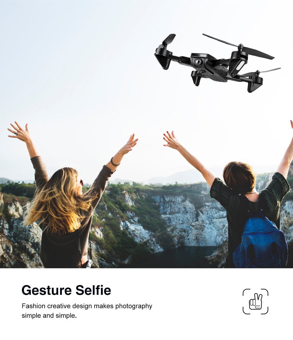 Professional Selfie Drone Optical Follow Me RC Quadcopter with Dual Camera HD 1080P FPV Helicopter VS VISUO XS809S SG700 E58 13