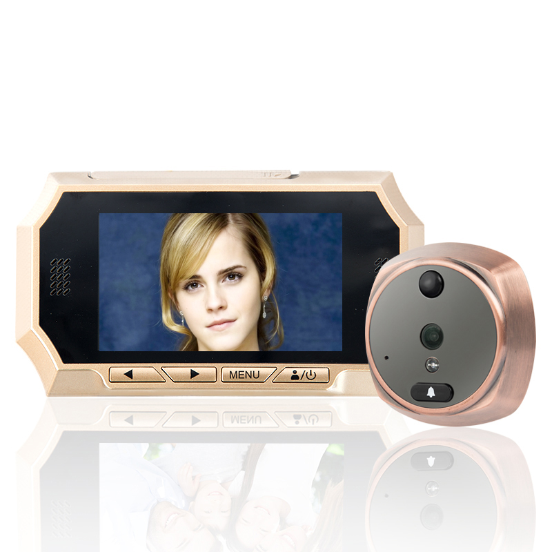 MOUNTAINONE 4 3 TFT LCD Screen Digital Peephole Door Viewer Camera PIR Motion Detection Doorbell 160