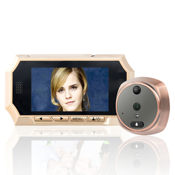 "MOUNTAINONE 4.3"" TFT LCD Screen Digital Peephole Door Viewer Camera PIR Motion Detection Doorbell 160 Degree IR Night vision"