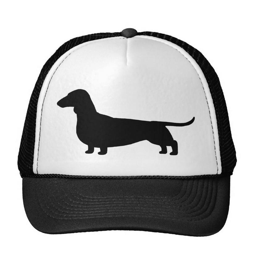 Dackel Hund Briefe Drucken Baseball Cap Trucker Hut Für Frauen Männer Unisex Netz Einstellbarer Größe Drop Ship Schwarz Weiß M-17