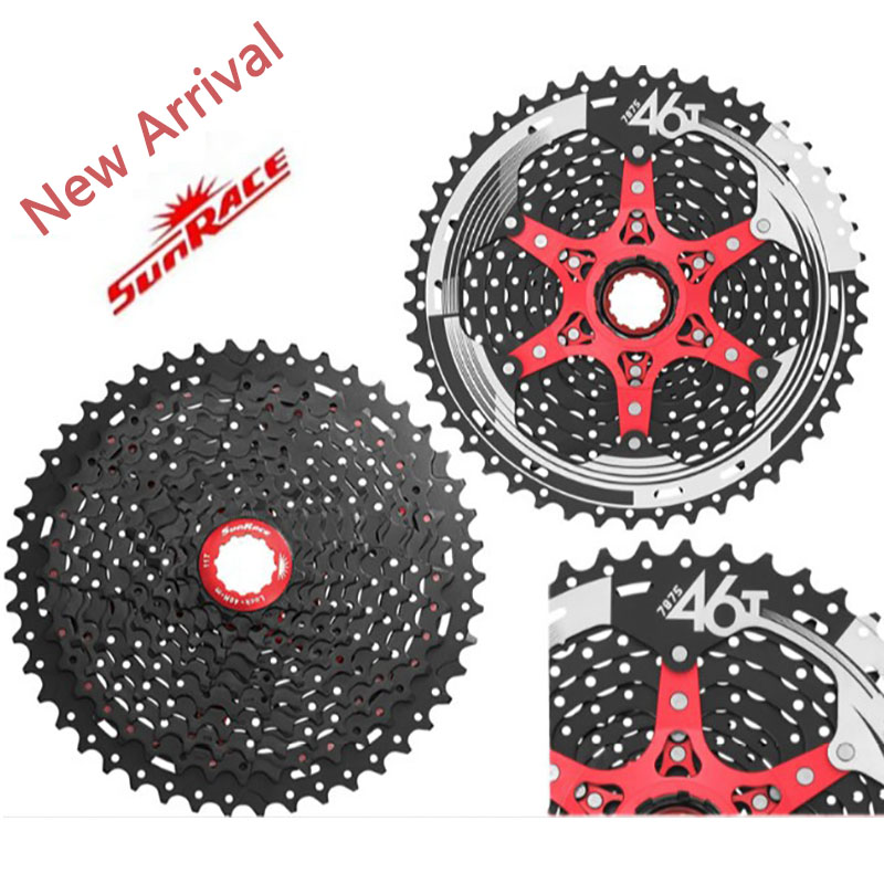 Super Light New SunRace CSMX8 11-46T 11 Speed Bike Freewheel Wide Ratio Bike Bicycle MTB Freewheel Mountain Bicycle Cassette cog