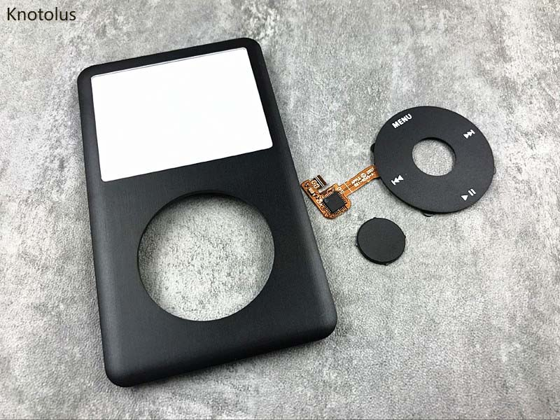 black front faceplate housing clickwheel button for ipod 6th classic 80gb 160gb
