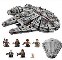 Educational Toy assemblage Building block Star War Building Block Force Awakening Millennium Falcon kid learning toy best gifts