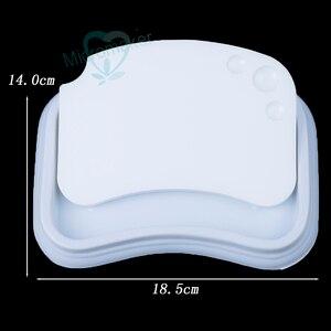Image 3 - Nowy 1PC laboratorium dentystyczne paleta ceramiczna porcelana mieszanie podlewanie płyta mokra taca