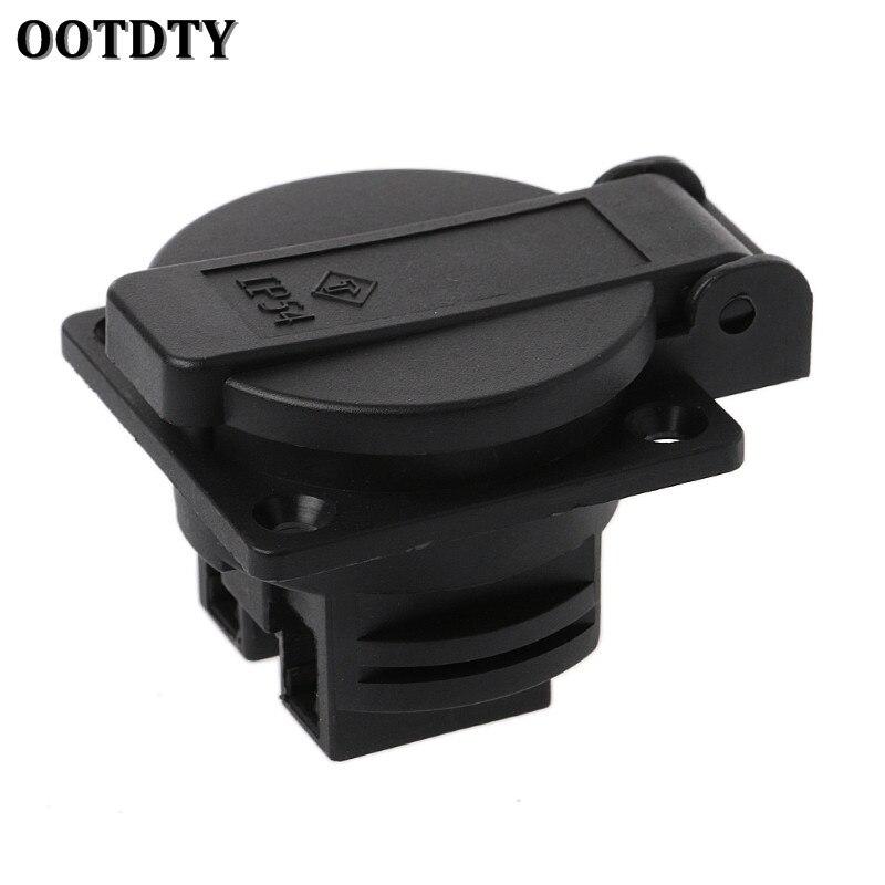 OOTDTY Germany Waterproof Industrial Socket AC Power Socket German Industrial Plug Electrical Socket With Waterproof Cover