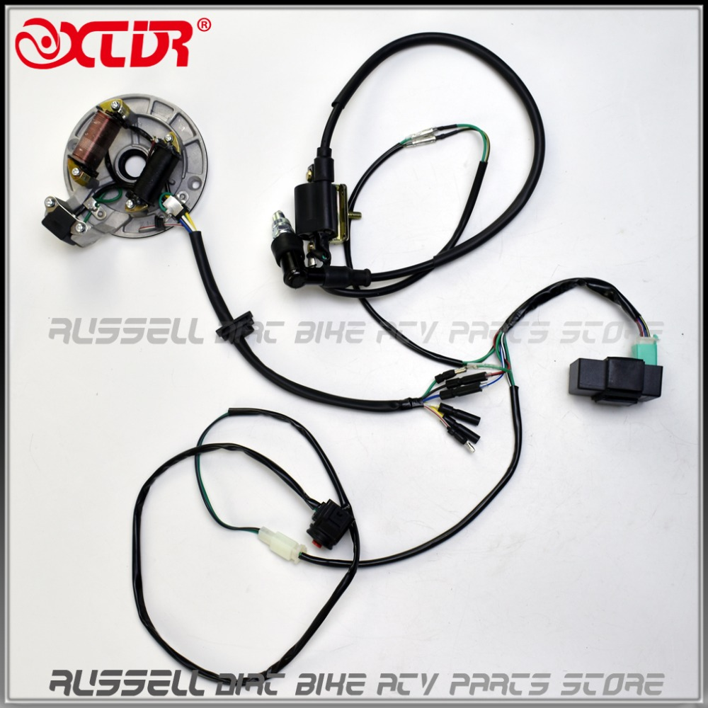 online get cheap complete wiring harness aliexpress com alibaba complete loom electrics wiring 50cc 70cc 110cc 125cc wire harness cdi coil dirt bike engine