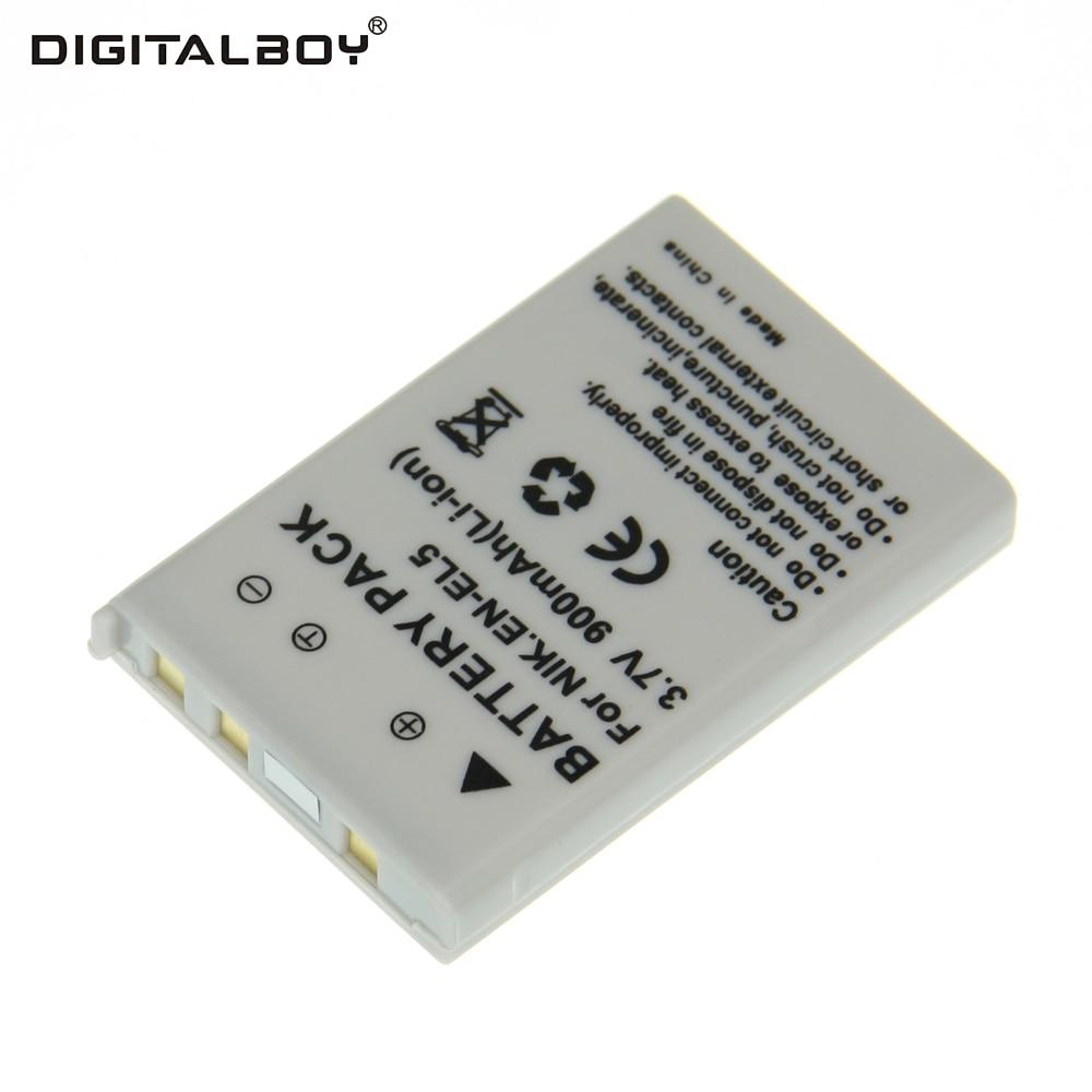 Digital Boy 3.7V 900mAh Li-ion 1PCS Battery EN-EL5 ENEL5 EN EL5 For Nikon Coolpix 3700 Coolpix 4200 5200 Coolpix 5900