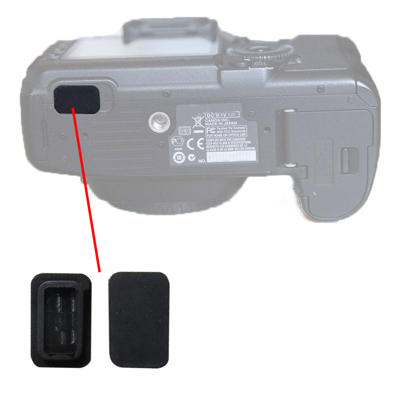USB Square Plug Bottom Accessory Interface Rubber  For Canon 5d2 40D 50D 7D Camera Repair