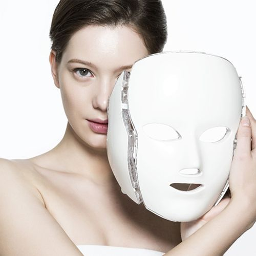 White or Gold 3/7 Colors PDT Photon LED Facial Mask Skin Rejuvenation Wrinkle Removal Electric Anti-Aging LED Mask 7 colors light photon electric led facial neck mask skin pdt skin rejuvenation anti acne wrinkle removal therapy beauty salon