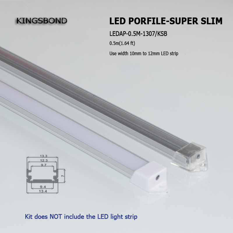 10pcs 50cm U type Slim LED aluminum profile for led bar light cabinet light wardrobe light display counter