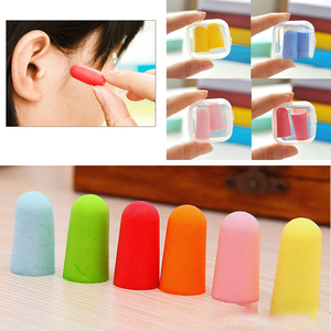 Image 1 - 10/5/1 Pairs Soft Foam Anti noise Earplugs Snore Sleep Learning Hunting Ear Protector Earmuffs Anti Sound Noise Protection Kids