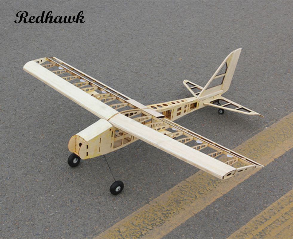 RC Plane Laser Cut Balsa Wood Airplane  Kit New  2.5-4.5cc nitro trainer Frame without Cover Free Shipping Model Building Kit new phoenix 11207 b777 300er pk gii 1 400 skyteam aviation indonesia commercial jetliners plane model hobby