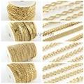 4 Estilo de La Joyería Collar Pulsera Hacer Enlaces Cadenas de Hierro de La Hoja, soldado, oro
