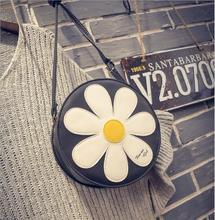 2018 Fashion Circle Crossbody Bag for Women Female PU Leather Round Shape Handbag Sun Floral Shoulder Messenger Bag for Girls. все цены