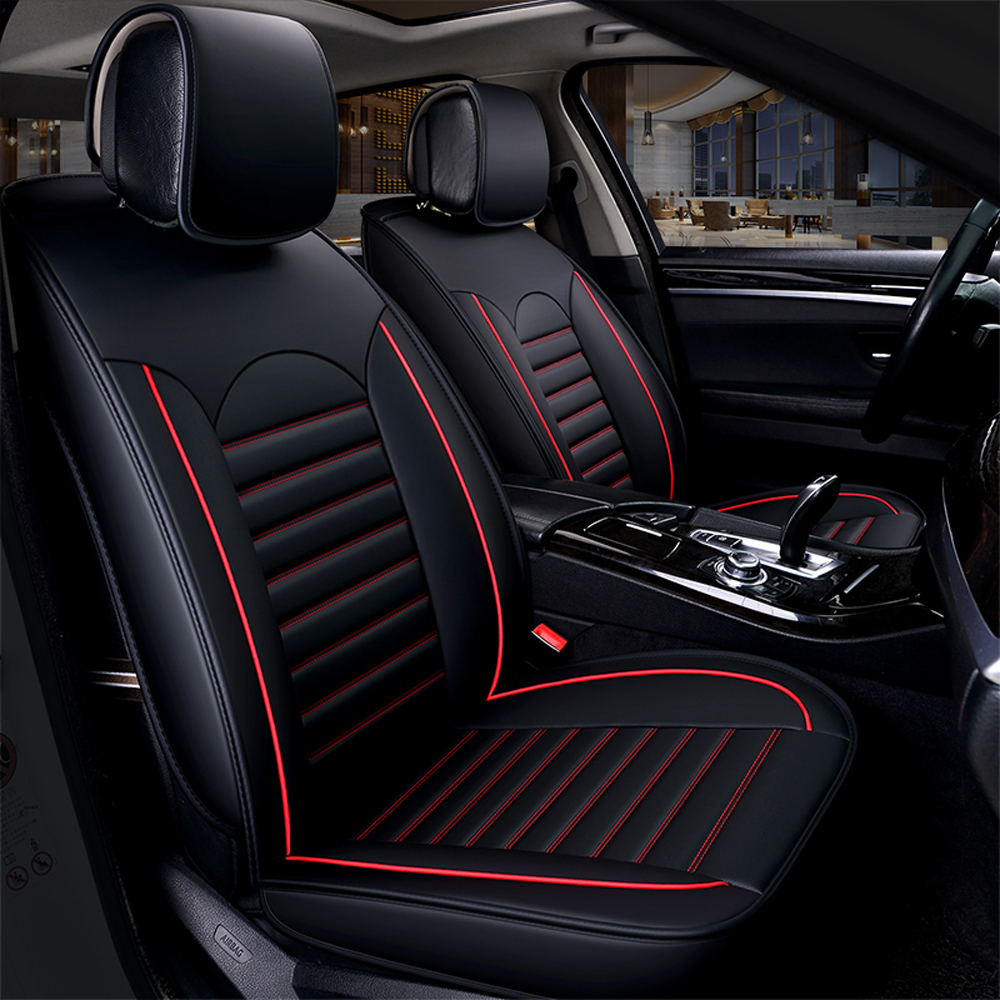 Image 4 - KKMOON Universal 1pc PU Leather Car auto Seat Cover car styling Accessories Cushion autocovers with Tire Track for cars styling-in Automobiles Seat Covers from Automobiles & Motorcycles