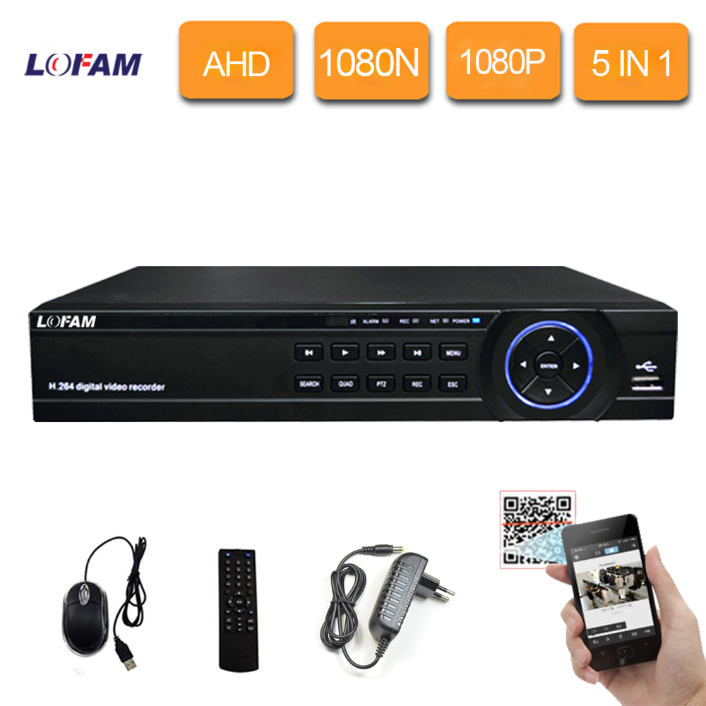 LOFAM 8CH CCTV DVR 1080N 1080P Security H 264 Surveillance Digital Video Recorder 8CH DVR NVR