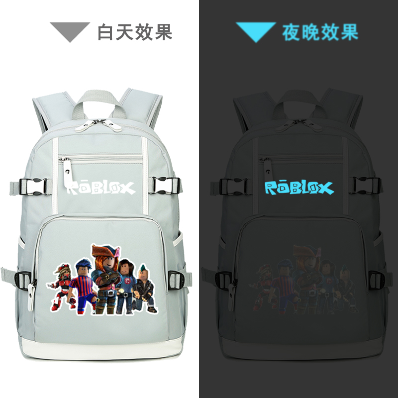 High Quality Pixel Roblox Printing Backpack Canvas Laptop Backpack Roblox  School Bags For Teenage Girls Travel Backpack