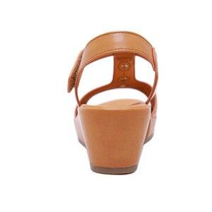 Image 5 - BEYARNE2019 Summer Shoes Women Wedge Sandals Summer Ladies Wedges Shoes Casual Female Sandalias Plus SizeE579