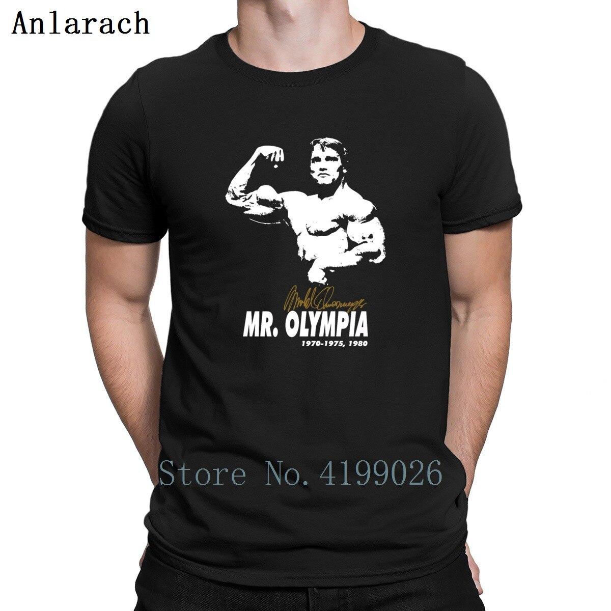 Arnold Schwarzenegger Mr Olympia T-shirt dos homens feitos sob encomenda  Camisetas Tamanho S-3xl Hiphop Encabeça Tee Verão Qualidade Do Edifício Do
