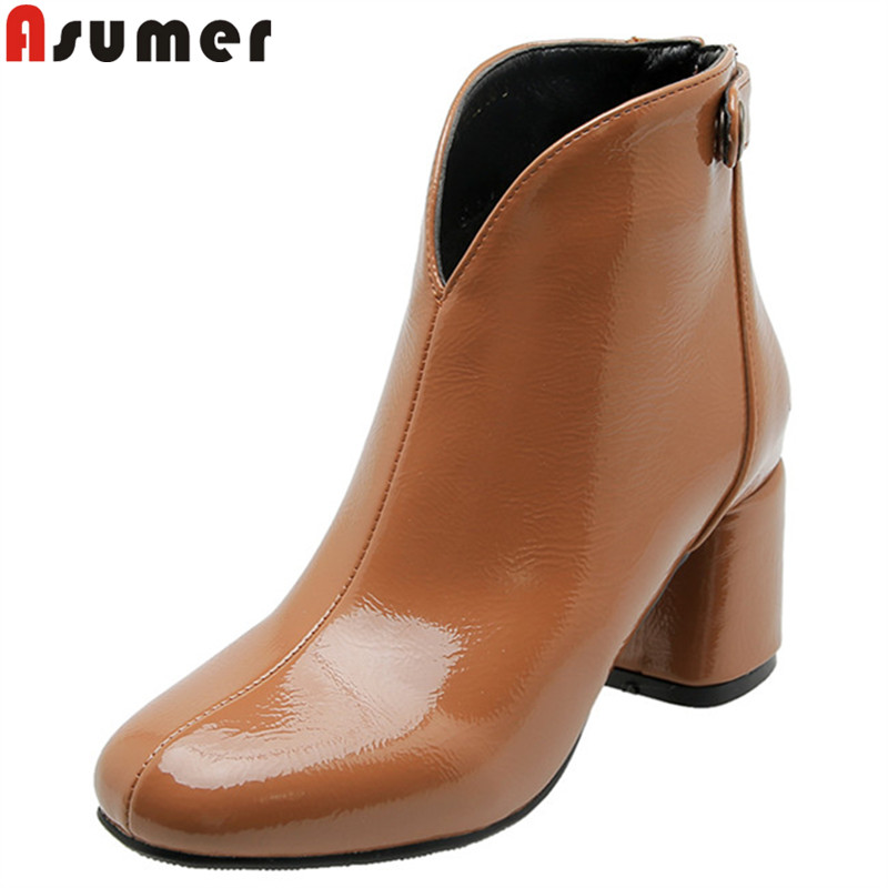 ASUMER large size 34 46 new ankle boots