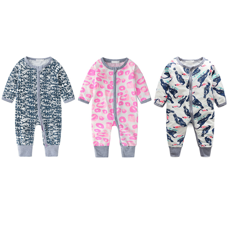 New Baby   Rompers   Autumn Baby Boy Girl Jumpsuit Print Long Sleeve Newborn Infant Clothing 2019