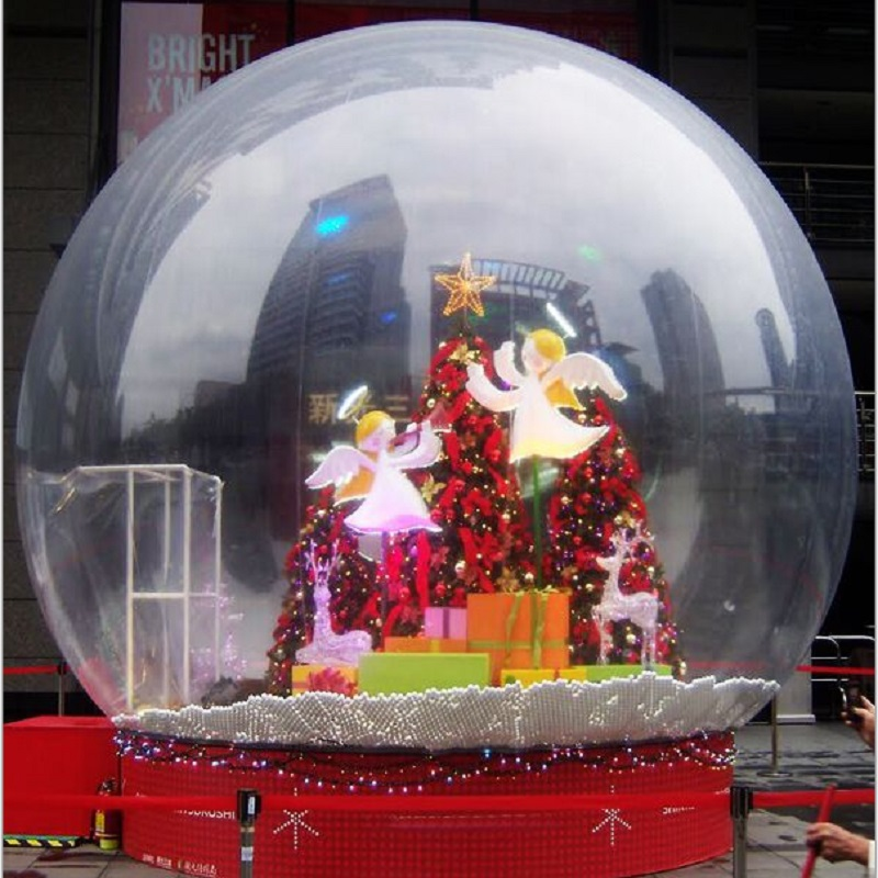 inflatable snowflake ball or inflatable Snowdome 3 M diameter snow globe exhibition start business indispensable