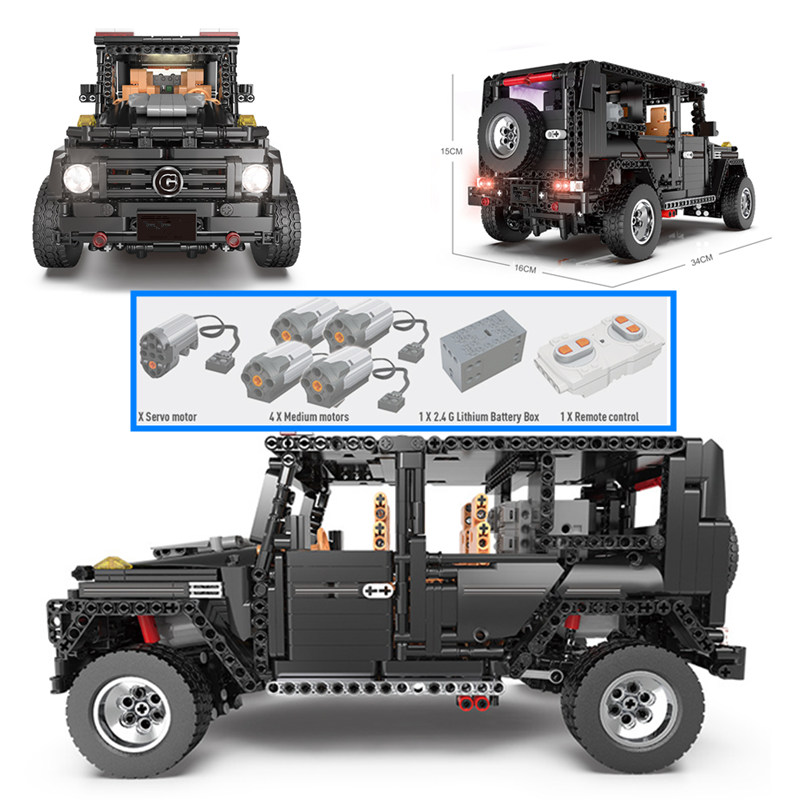 New APP RC G Glass G500 AWD Wagon SUV Vehicle fit Technic MOC 2425 Motor Power Function Building Blocks Bricks Toy kid-in Blocks from Toys & Hobbies    2