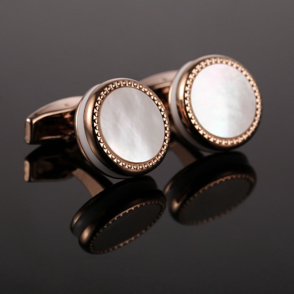 Hot Sale Mother Pearl Cufflinks French Shirt Gemelos De Alta Calidad bouton Men Jewelry Wedding Cuff links Drop Ship 52500