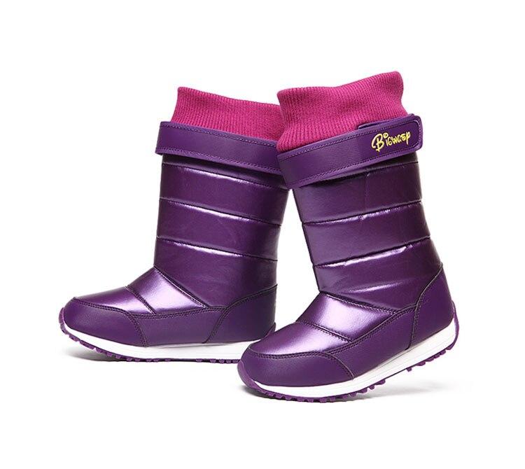 HOT Sale 2016 Children Winter Warm Snow Boots Boys Girls