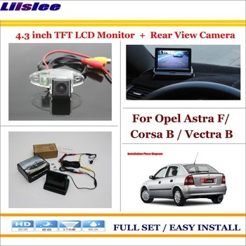 """For Opel Astra F/Corsa B/Vectra B Car 4.3"""" LCD Screen Monitor NTSC PAL & Car Parking Camera 2 in 1 Parking Rearview System"""