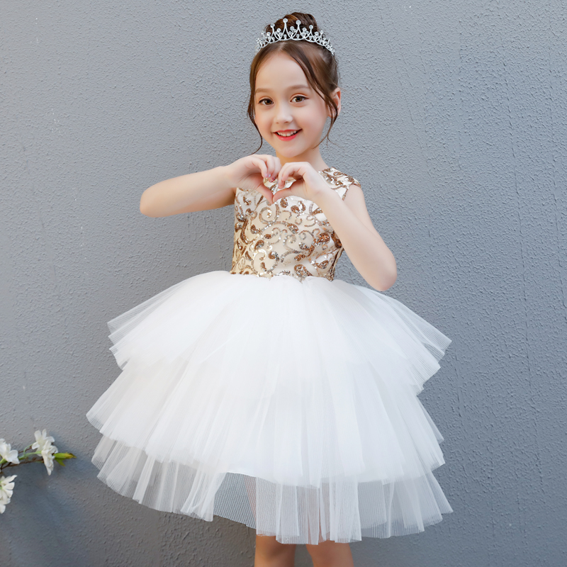 High quality children's dress birthday small dress flower girl dress girl dance costumes fluffy princess dress цена