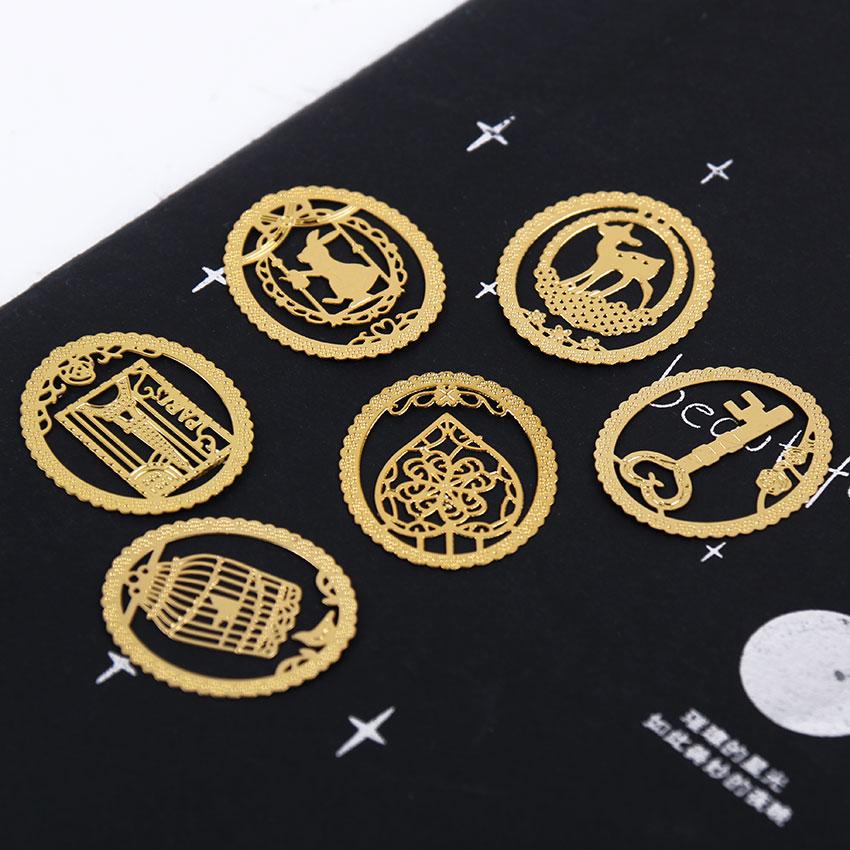 1 шт. Kawaii металлические золотистые закладки Мода клетка зажимы для товары книжная бумага творческие продукты офисные принадлежности