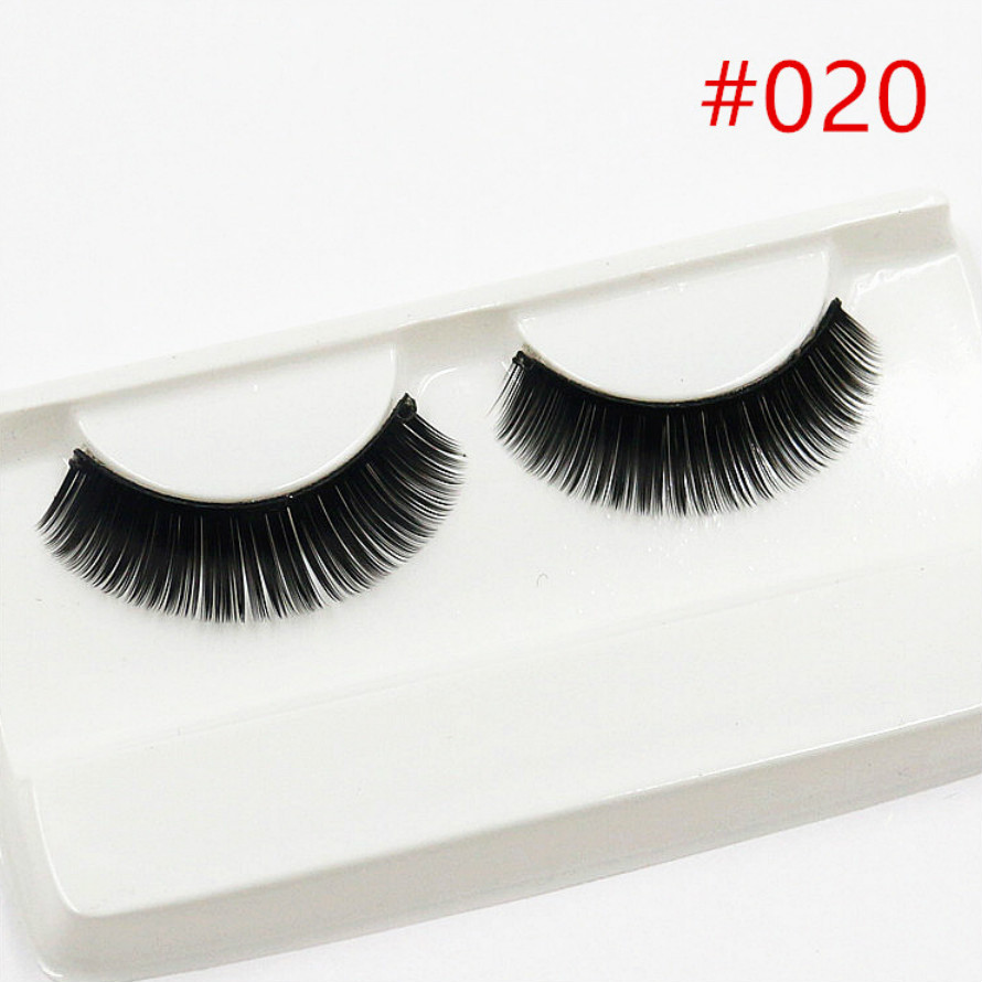 New 1 Pair Peach Heart False Eyelashes Korea Natural Naked Makeup Long Mink Eyelashes Handmake Eye Lashes Makeup Kit Gift #022 Beauty Essentials