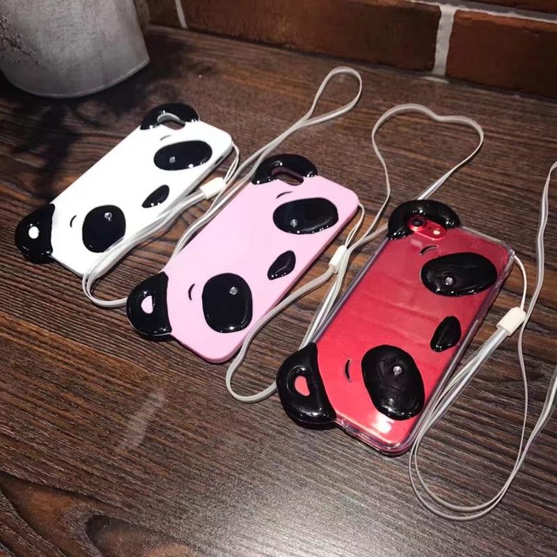 HTB10QUeRpXXXXaUaFXXq6xXFXXX3 - Cute Cartoon 3D Chinese Panda Ears & Eyes Transparent Coque TPU Silicone Soft Clear Panda Phone Case For iPhone 6 6S 7 7 Plus PTC 286