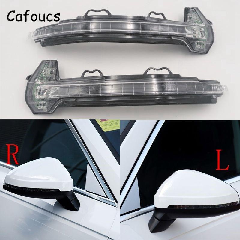 Cafoucs rétroviseurs latéraux de voiture pour Audi A4 S4 B9 RS4 2016 2017 pour Audi A5 S5 RS5 2017 avec ampoule LED