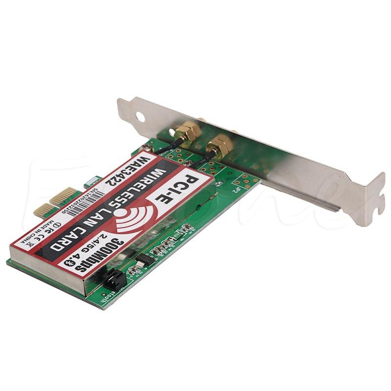 Double-Bande Bluetooth 4.0 PCI-e PCI 300 Mbps Carte Réseau Wlan WiFi Adaptateur Gros