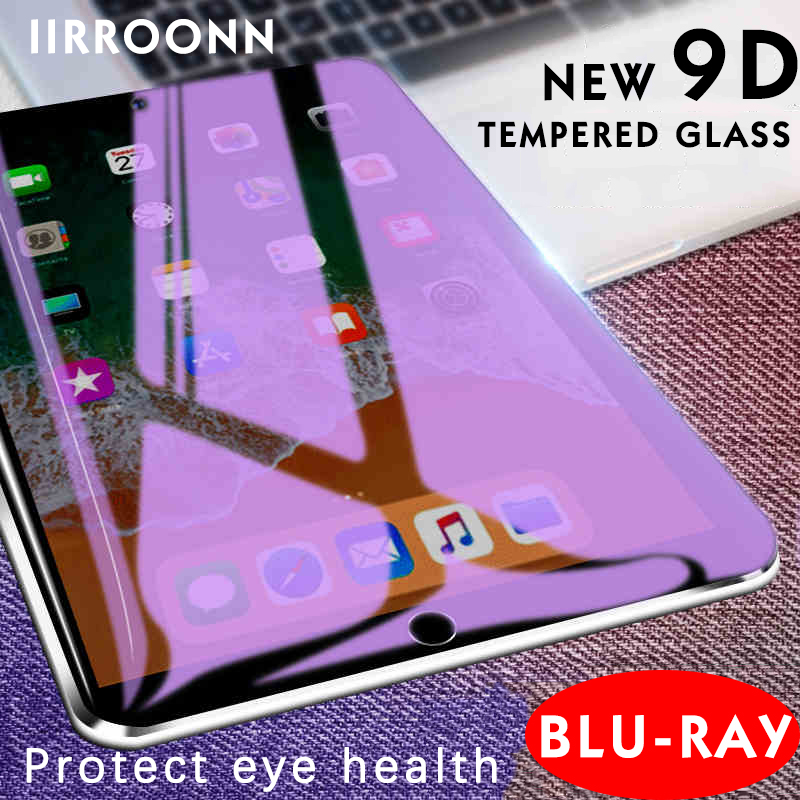 Anti-Blue Light Tempered Glass For Apple IPad Mini Air 1 2 Mini 3 4 2017 2018 Pro 9.7 10.5 IPad Pro Screen Protector Tablet Film
