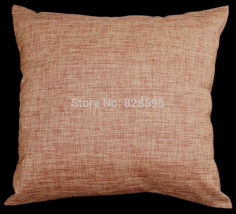 En03 28 Quot X 28 Quot Inch 71 X 71cm Gold Red Linen Cushion
