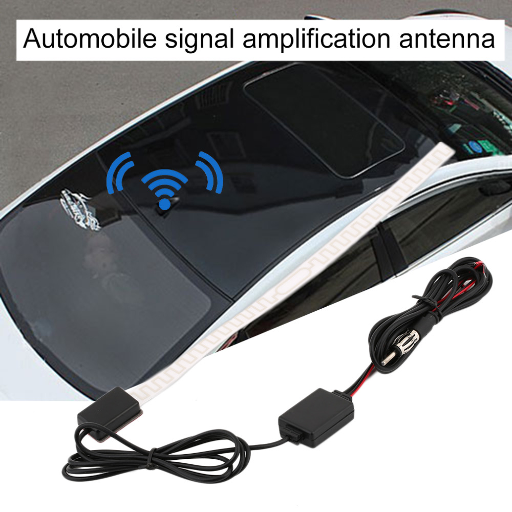 Hot Sale Car Antenna Radio Aerial Car Signal Radio Reception Amplifier Car Digital Automobile TV Aerial FM Car-styling