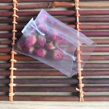 2017 New PLA Biodegraded material Corn Fiber Mesh Tea Bag Filters Pyramid Shape Heat Seal Tea Bags 100/lot
