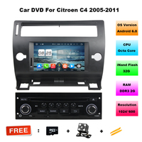 Octa Core Android 6 0 CAR DVD Player FOR CITROEN C4 2005 2011 Car Audio Gps