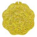 Fashion Luxury Crystal Diamond Evening Bag Yellow Bridal Wedding Clutch Bag for Party Purse Dinner Bag Rhinestone Prom bag SC461