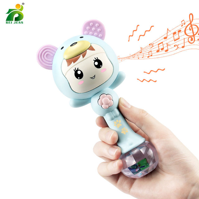 Baby Rattles Hand Mobile Music Light Cute Sand Hammer Newborn toy 0-12 Months Teething Educational Baby Toy for kids BEI JESS