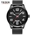 TEZER marca relógios men sports watch negócio multi função à prova d' água quartz relogio masculino T5024
