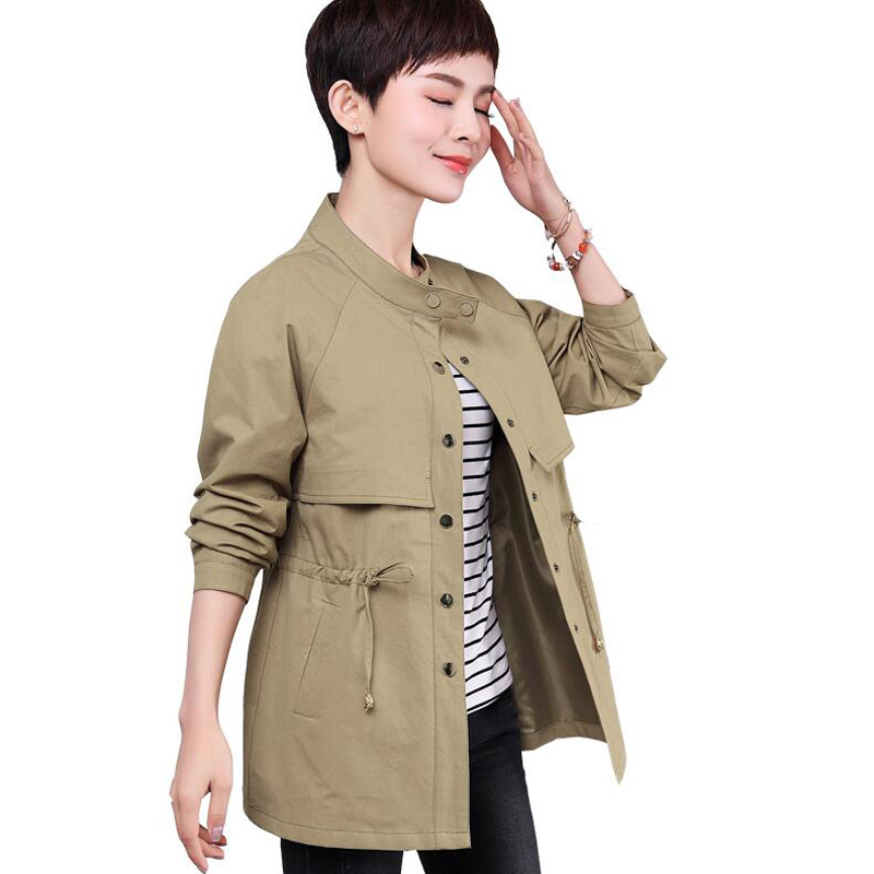 2018   trench   coat for women New Spring Autumn Coat Women Long Sleeve Causal plus size With Female Coat Casaco Feminino Coats