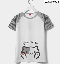 2017 nueva atsume neko cosplay camiseta de cosplay del anime de la cat yard t shirt hombres mujeres camisa corta cos