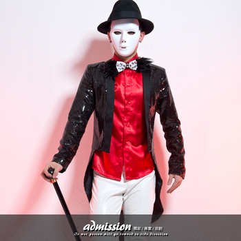 S-4XL!!! 2017,Male costume male paillette tuxedo outerwear male costumes The singer's clothing