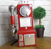 telephone fixed landline household are rotary dialing telephone European style of the ancient decoration decoration