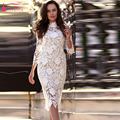 High Neck  Evening Dress Mermaid Prom Dress Lace Elegant Party Dress Formal Wear Homecoming Dresses  Z282